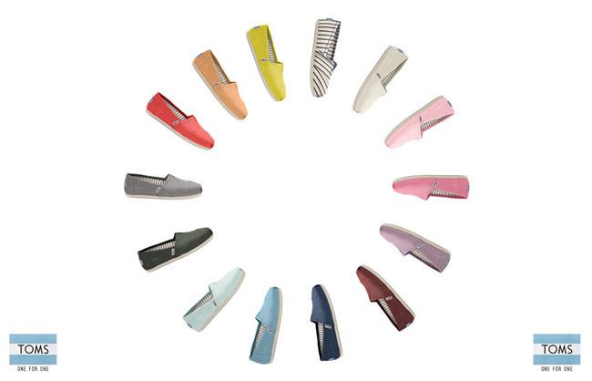 TOMS VENICE 帆布懒人鞋系列发售
